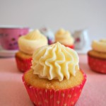Vanilla Cupcakes with Whipped Vanilla Buttercream