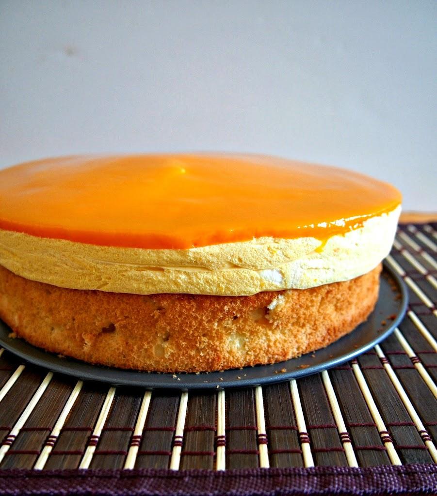 Mango Mousse Cake Woman Scribbles