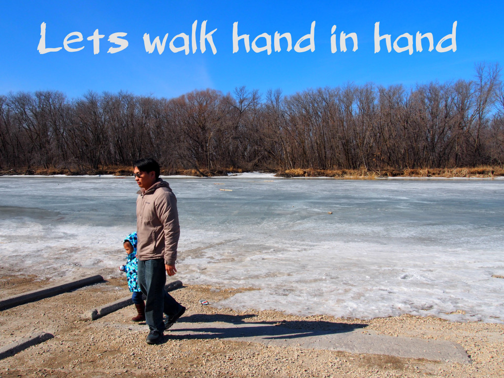 lets walk hand in hand