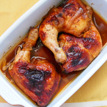 Lemon BBQ roast Chicken