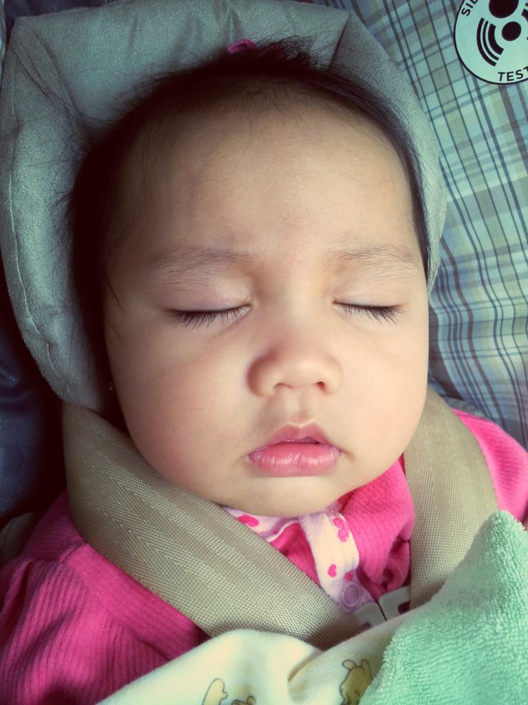Faye sleeping