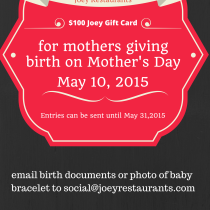 Joey Restaurants mother's day