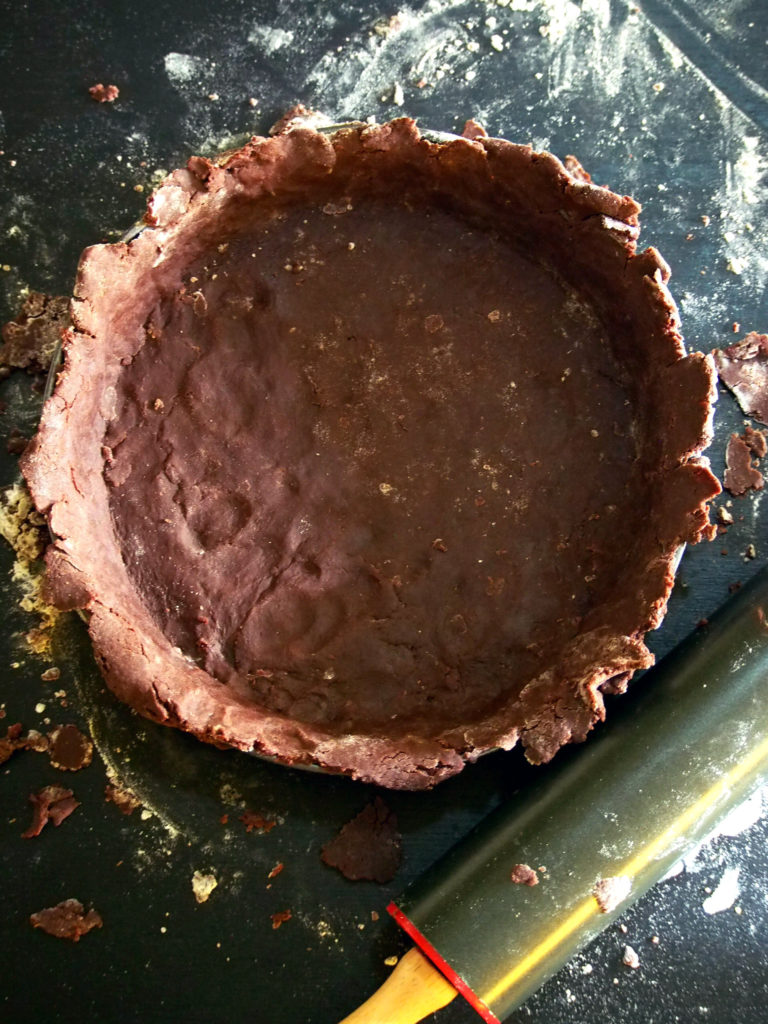 chocolate_crust of mocha tart