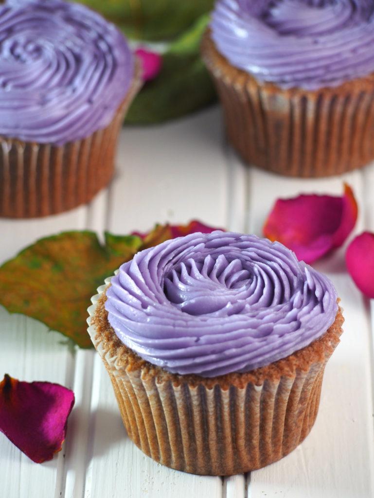 moist ube cupcakes