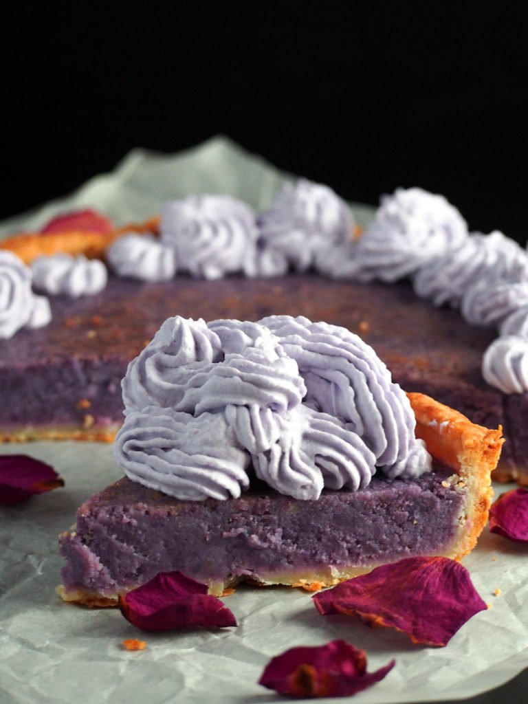 ube custard pie