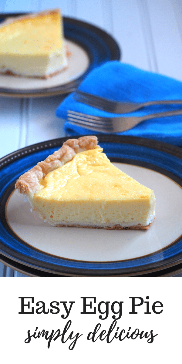 Simply yummy! This Egg pie yields a lightly sweet egg custard nestled on a buttery pie crust. You can use store-bought pie crust to make it easier. Totally delicious! #easydesserts #pies #tarts #eggpie