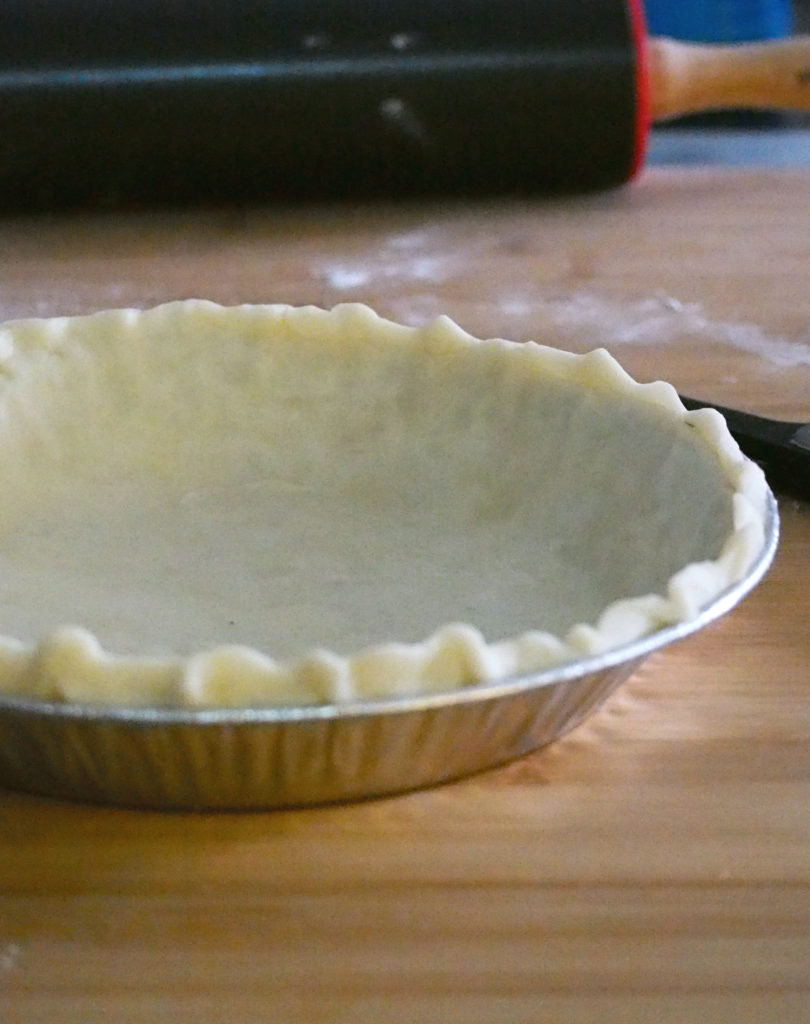 The pie crust all ready for the filling.