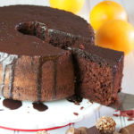 Chocolate Chiffon Cake with Orange Chocolate Glaze