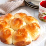 This Milk bread recipe produces soft and fluffy rolls that are mildly sweet and are perfect for your choice of spread or jam.