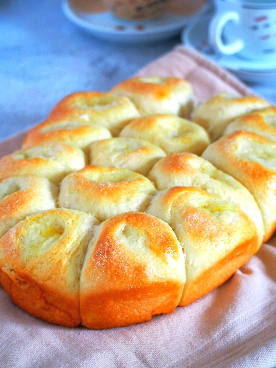 soft and buttery sugar buns woman scribbles