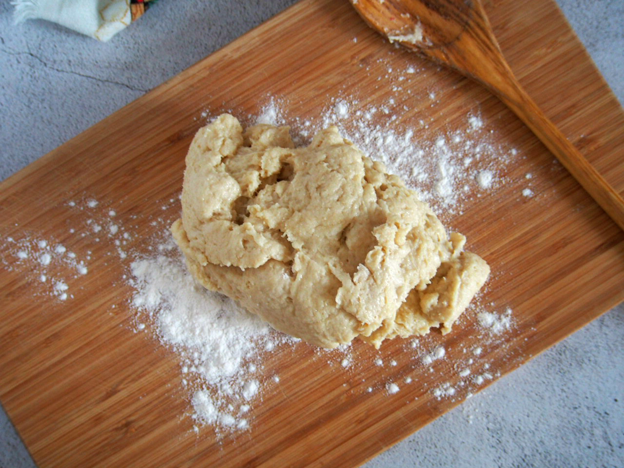 Sugar Buns dough ready for kneading.