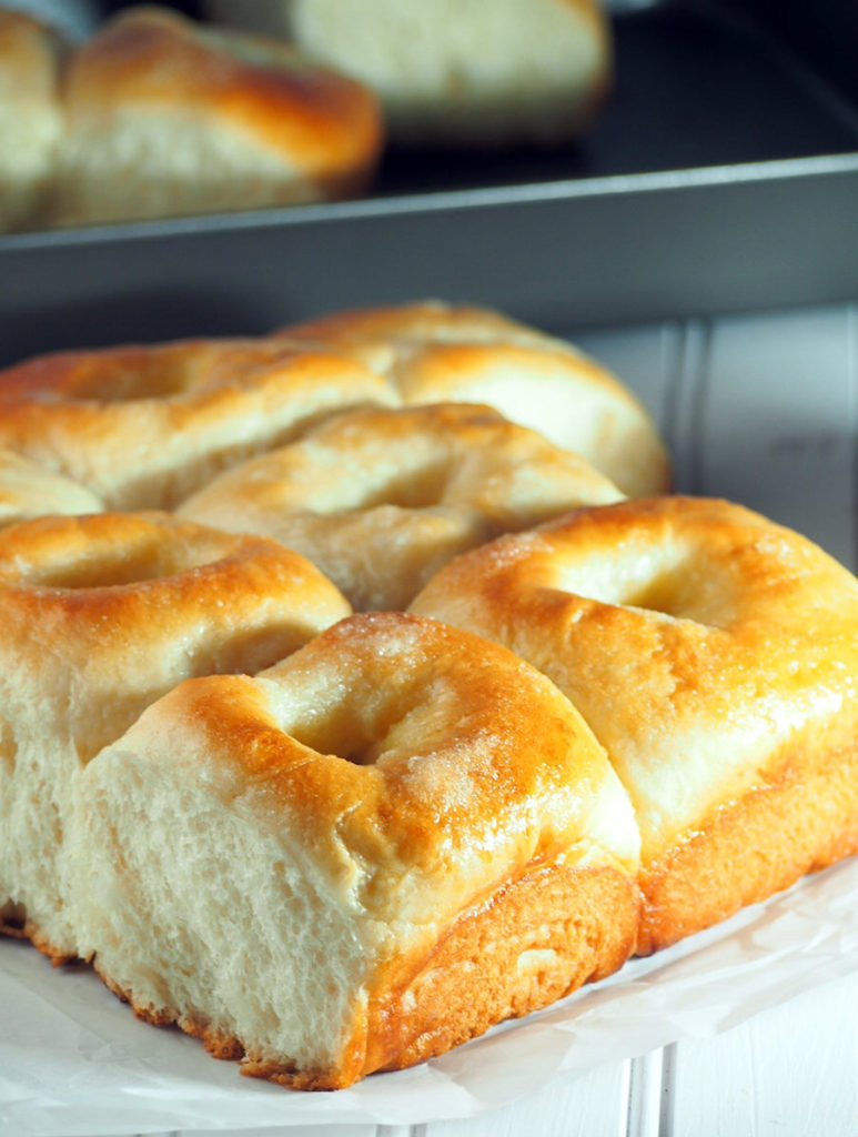 These sugar buns are soft and buttery with very appealing golden tops.