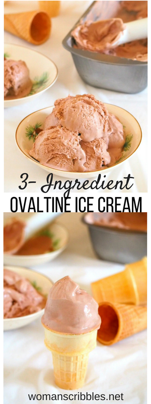 Three ingredient ovaltine ice cream woman scribbles all you need to make this ovaltine ice cream are three simple ingredients it is ccuart