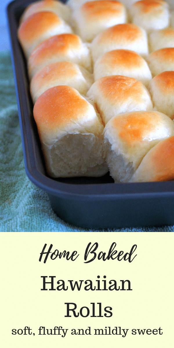 Make these delicious Hawaiian Rolls at home. They are fluffy, slightly sweet and buttery making them perfect on their own, with a pat of butter or as a side to your meals. #HawaiianBuns #sweetrolls #dinnerRolls