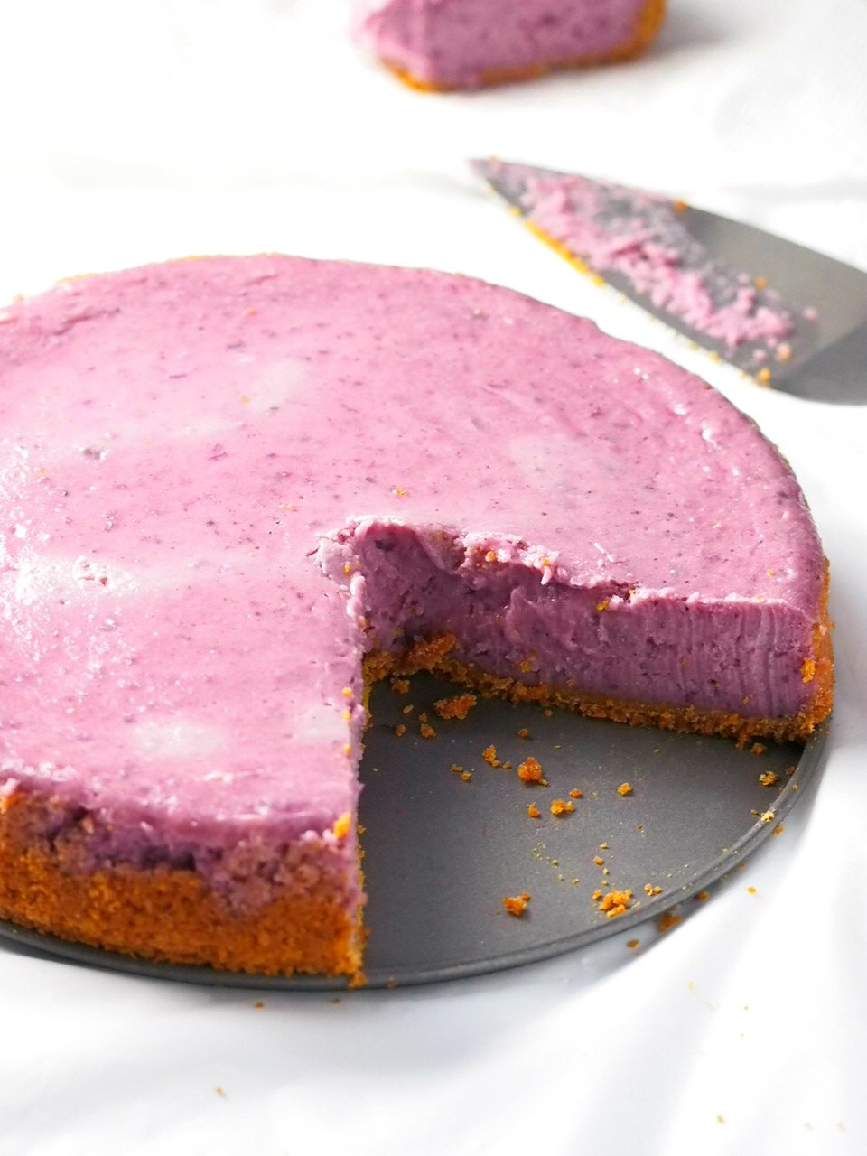 Creamy And Luscious Ube Cheesecake Woman Scribbles
