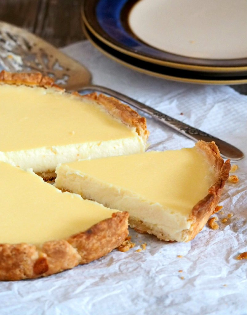 Cheese Tart is a creamy and velvety cheese filling that is nestled on a flaky cream cheese pie crust. The tandem of the two combined makes for such a heavenly, rich dessert.