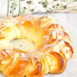 Brioche Bread Ring with Honey Stung Cream Cheese