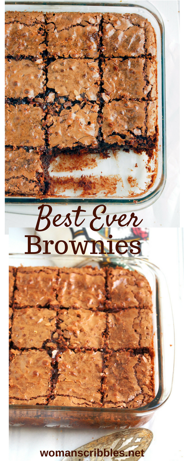 These Chocolate Brownies are heavenly delights that are soft and chewy inside, crackly crisp on the exterior and rich in chocolate goodness. They are ultimately the best ever brownies you can ever make!