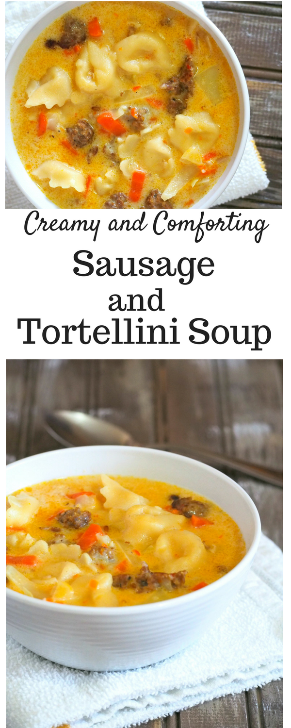 This Sausage Tortellini Soup gives you warmth in a bowl. The creamy and tasty broth, the crunchy vegetables and the flavorful Italian sausage make this soup the perfect comfort food on a cold day.