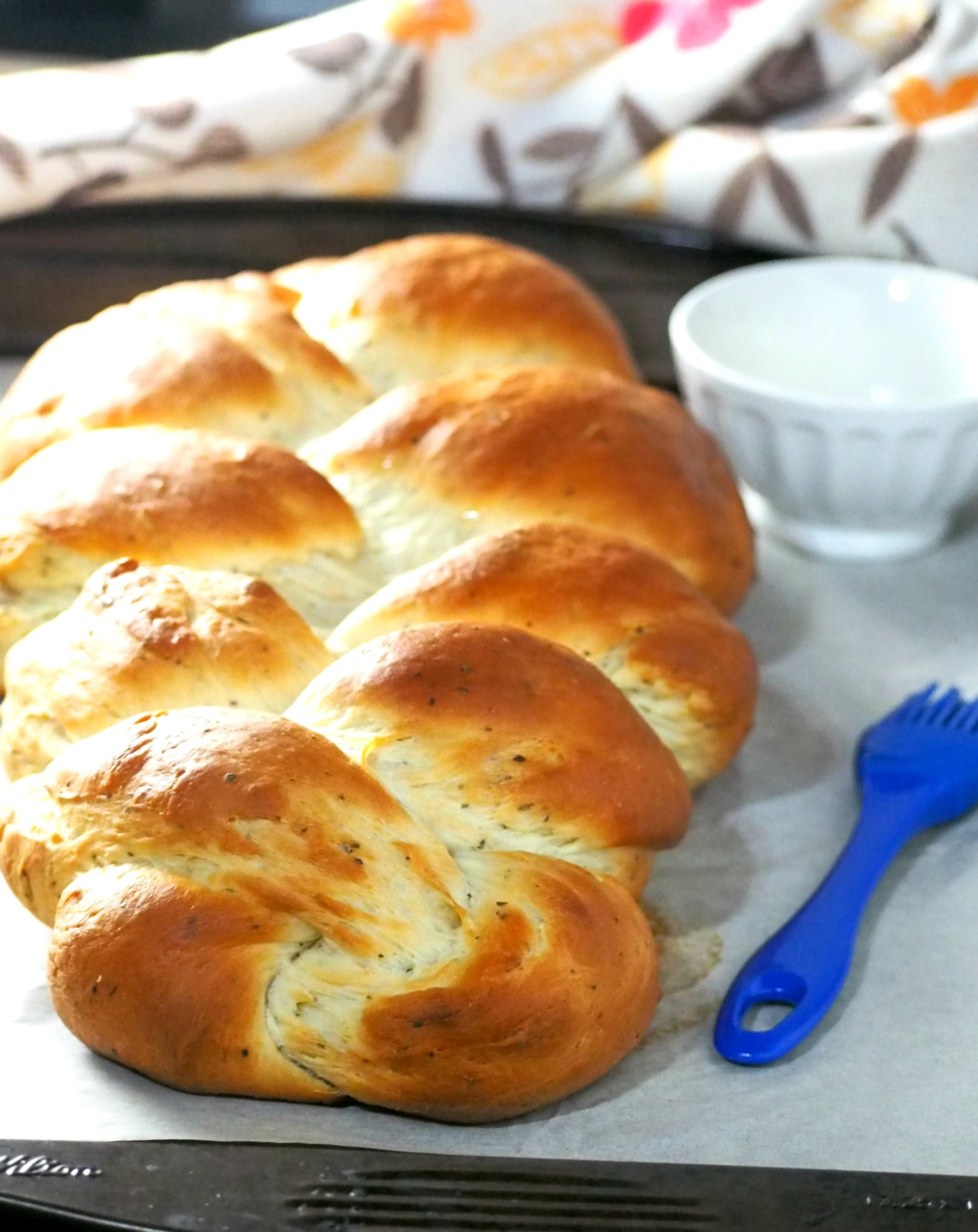 Try this bread wit herb and garlic that is so tasty , soft and full of savory garlic flavor.