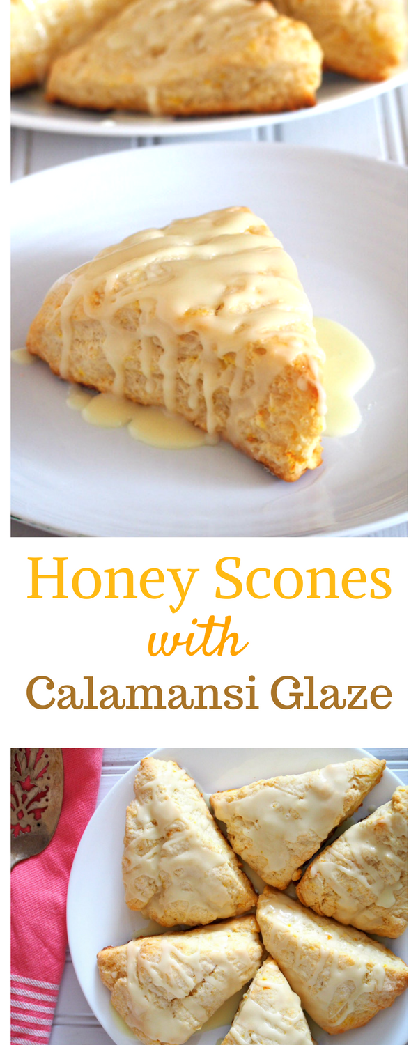 These melt in your mouth Honey Scones are even more delightful glazed with citrusy sweet calamansiglaze. Have them for breakfast, snack or even as desserts, you can't go wrong with these delicious treats any time of the day. #scones #honeycalamansi