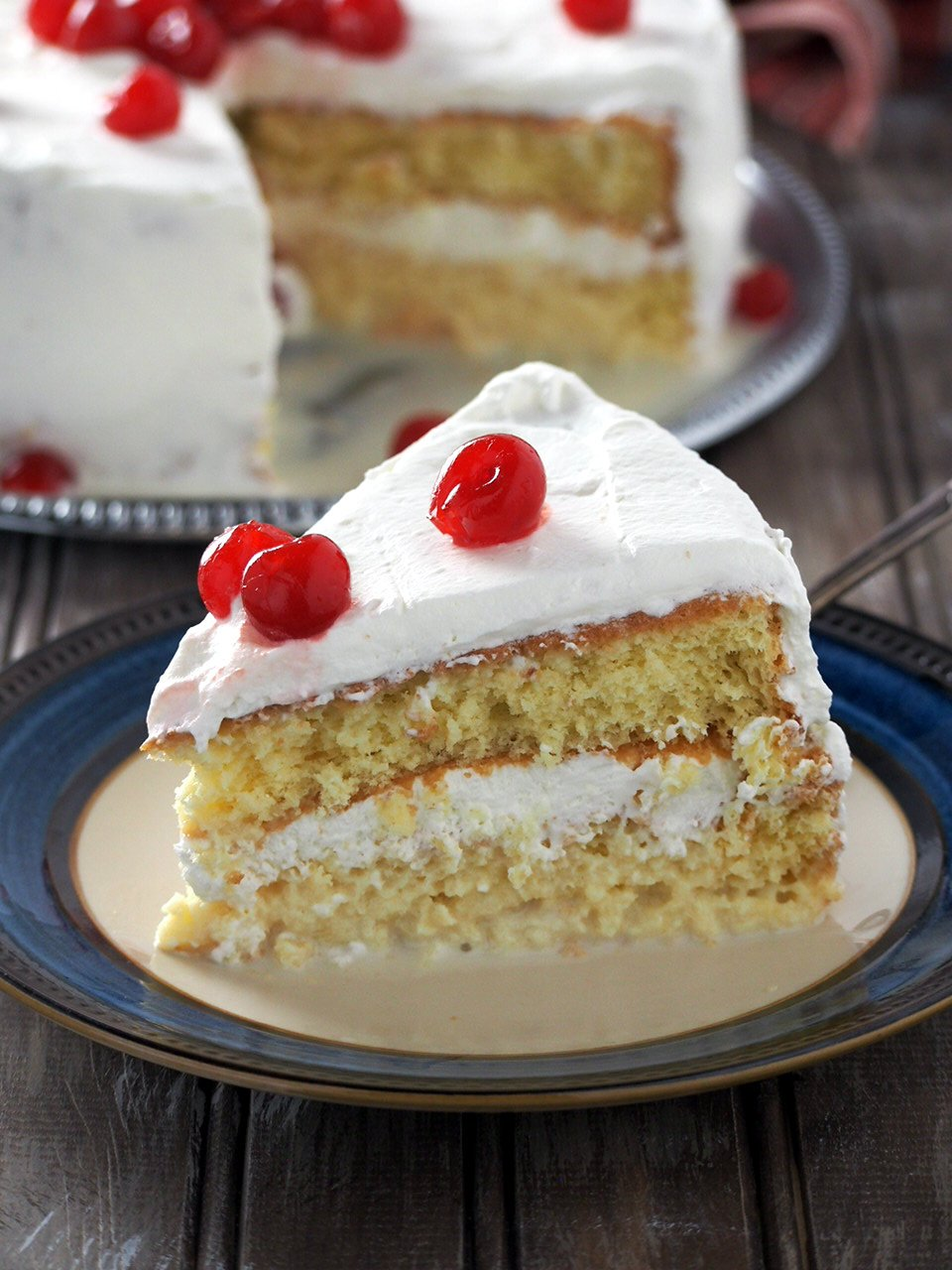 Tres Leches Cake is a heavenly indulgent sponge cake soaked in three types of milk. Very moist, delicate and creamy, this is a perfect dessert after a nice hearty meal.