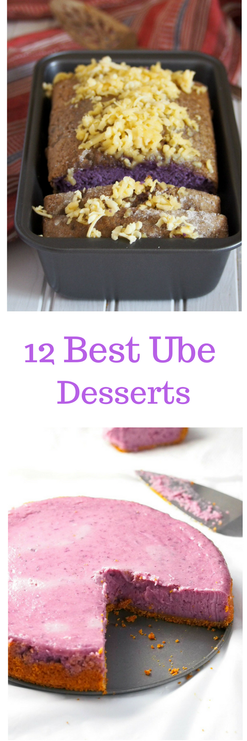 A list of the 12 Delicious and Delightful ube Desserts Recipes