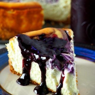 With blueberryswirls and a generous drizzling of blueberry syrup upon serving,this Blueberry Cheesecake is just the perfect one you will ever need!