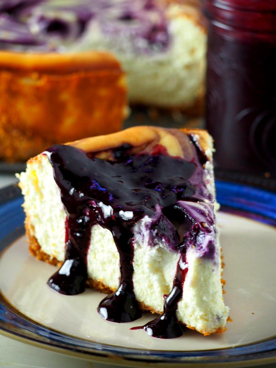 With blueberry swirls and a generous drizzling of blueberry syrup upon serving, this Blueberry Cheesecake is just the perfect one you will ever need!