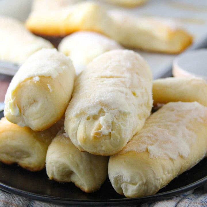 Sweet Cheese Rolls on a serving plate.