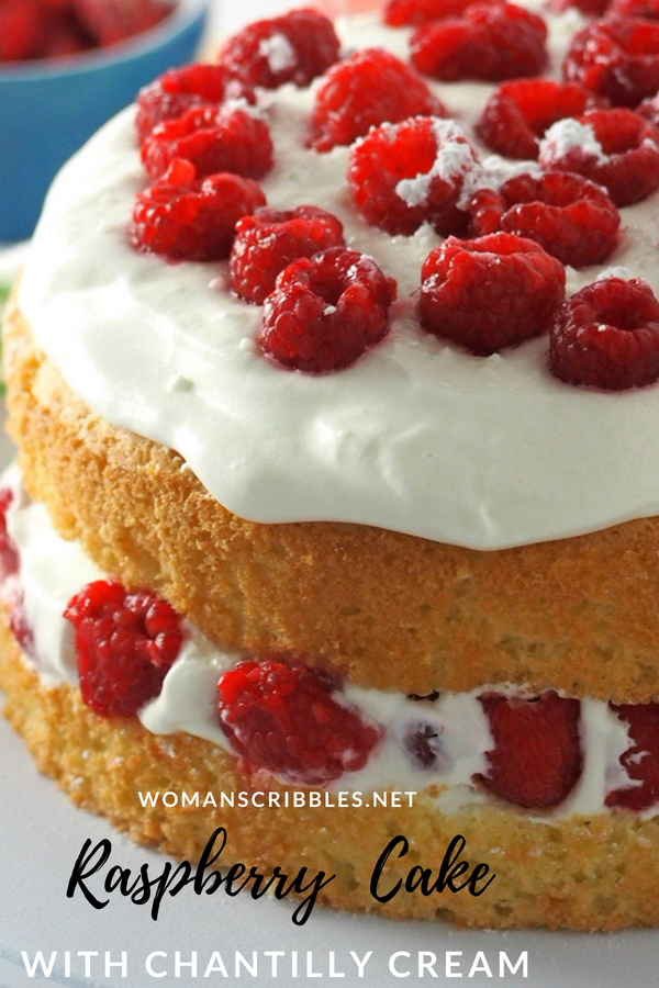Raspberry Cake With Chantilly Cream