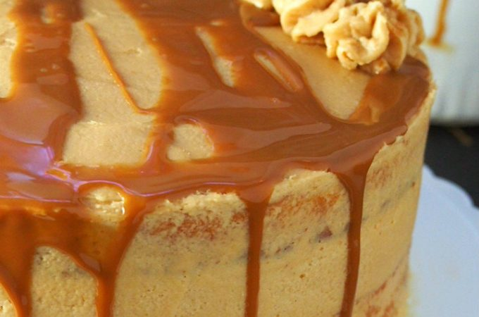 This delightful Dulce de Leche Cake featuressoft and moist butter cake layers filled and iced with heavenly sweet caramelized condensed milk frosting. You cannot resist the deep flavor of the luscious caramel sauce that is dulce de leche.