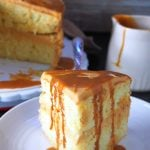 This delightful Dulce de Leche Cake features soft and moist butter cake layers filled and iced with heavenly sweet caramelized condensed milk frosting. You cannot resist the deep flavor of the luscious caramel sauce that is dulce de leche.