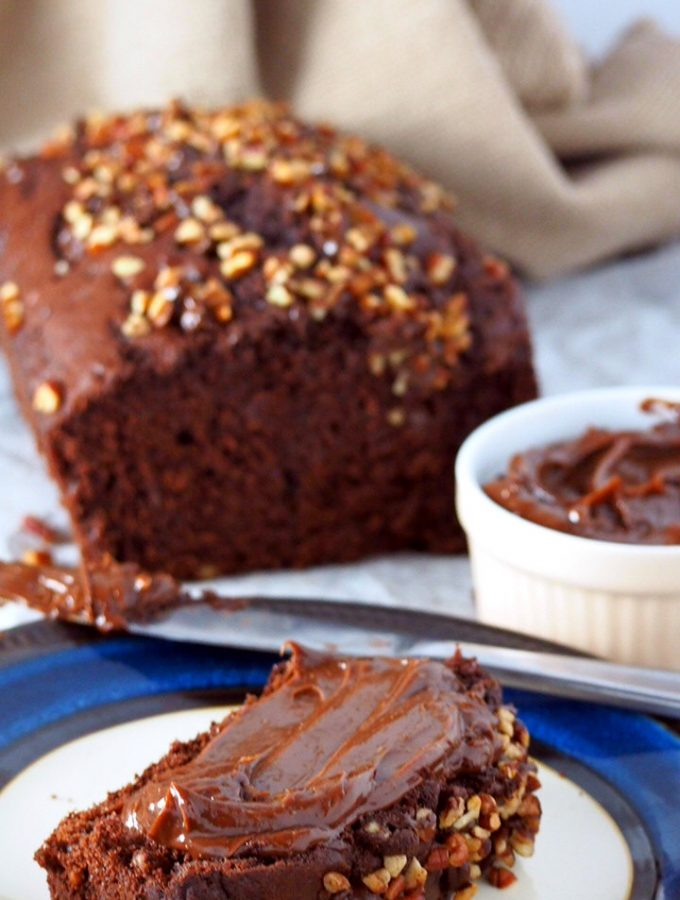 This your ultimate chocolate quick bread- moist, flavorful, rich chocolate chip loaf bread studded with pecans and chocolate chips. A true chocolate delight!