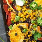 Sheet Pan Bean and Corn Nachos + The Ultimate One Pan Oven Cookbook Review