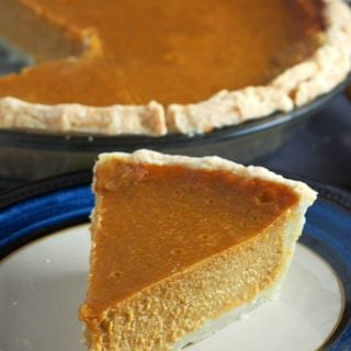 A closer shot of the Sweet Potato Pie.