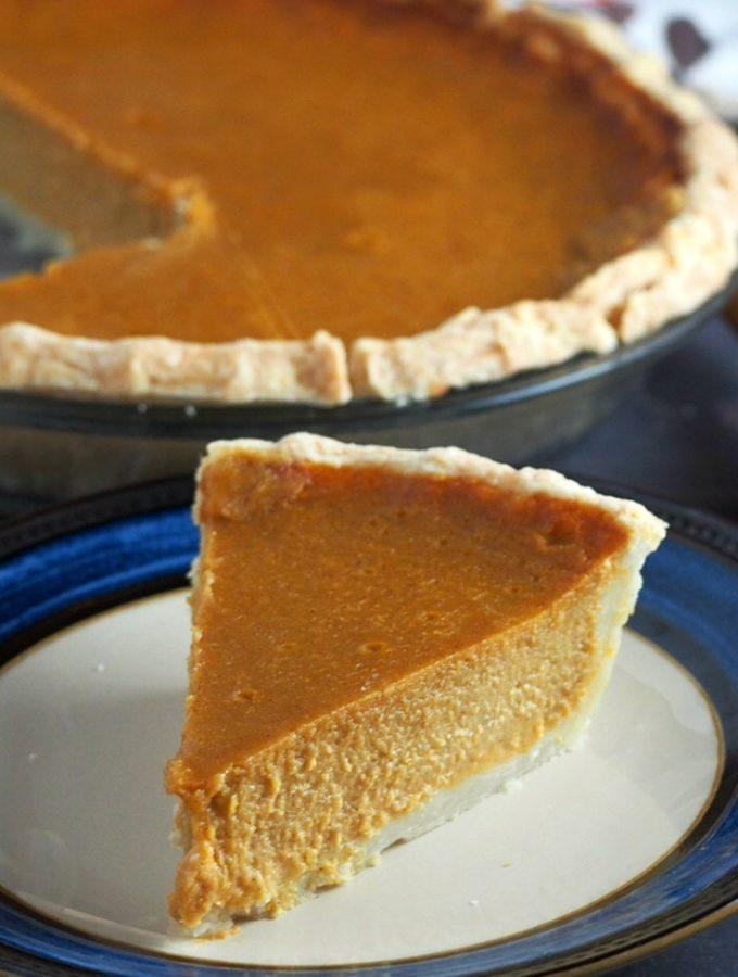 A closer shot of the Sweet Potato Pie.
