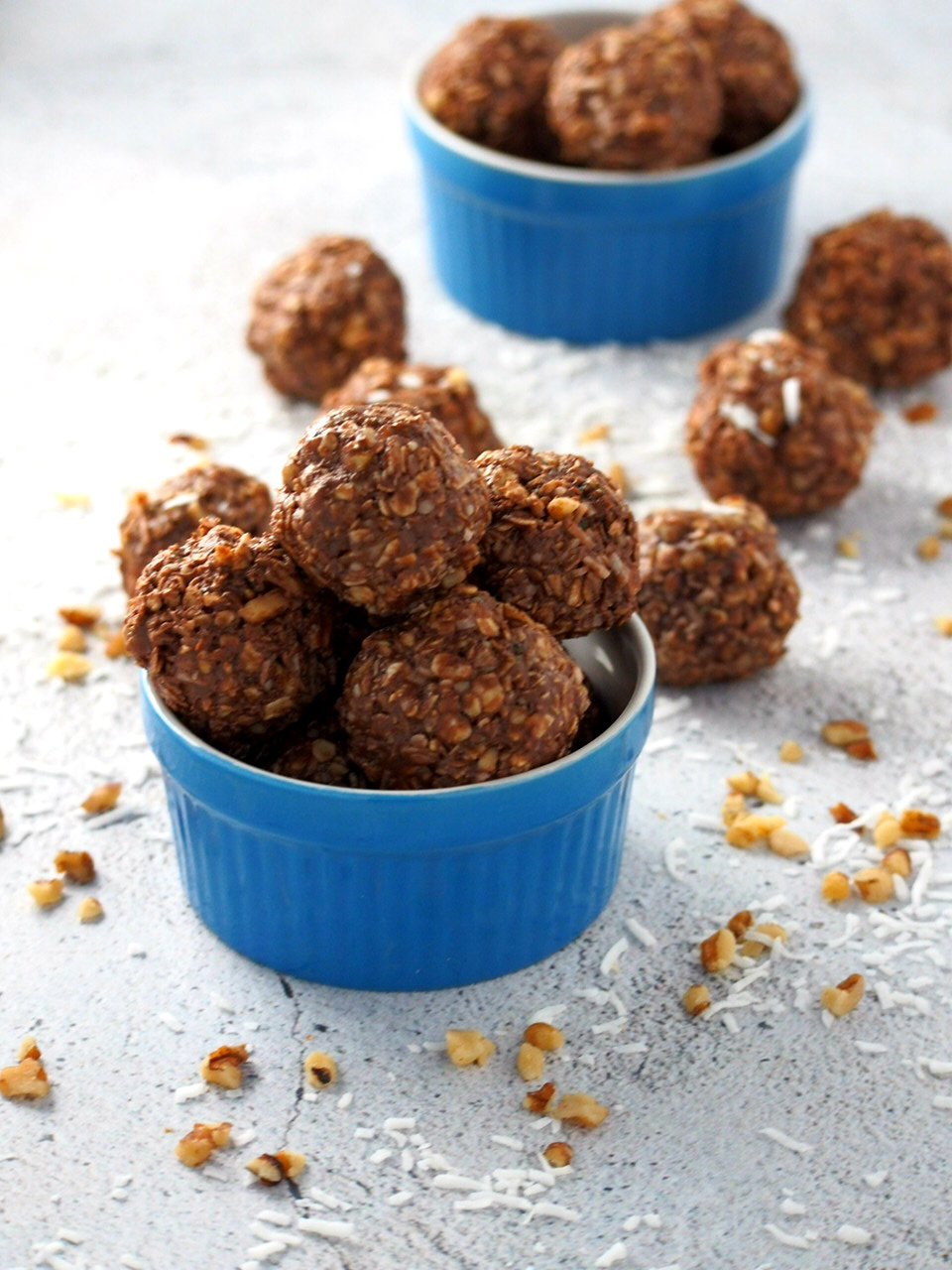 Nutella Energy Balls nestled n a small bowl.