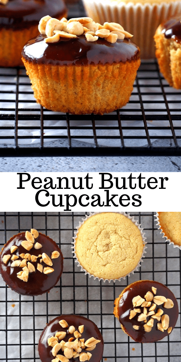 These peanut butter cupcakes are light, moist and just pleasantly sweet! Definitely my go- to for a simple but indulgent treat! #peanutbutter #cupcakes #chocolatepeanutbutter | Woman Scribbles