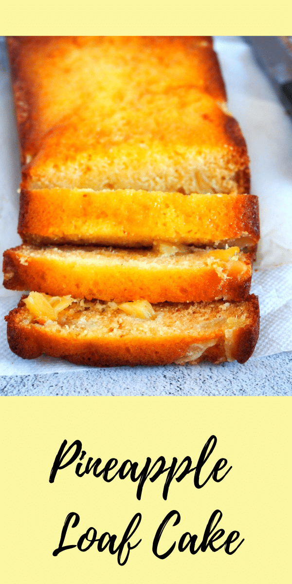For the Pineapple lovers out there! This Pineapple Loaf Cake is truly delicious loaf filled with sweet pineapples inside. Yum! #pineapples #Loafcake #loafbread | Woman Scribbles