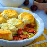 Smokies and Veggies Pot Pie with Biscuits Topping (Giveaway Ended)