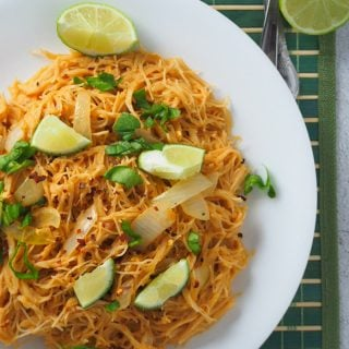 Pad Thai on a plate.