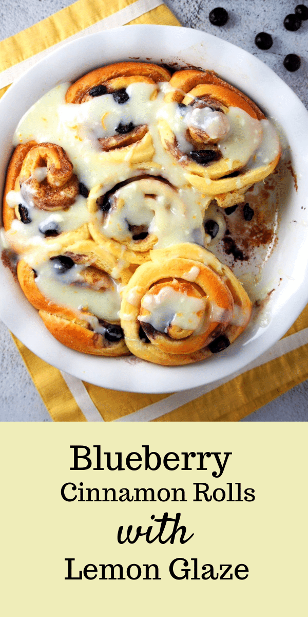 These Blueberry Cinnamon Rolls are sweet, citrusy and warm all at the same time. You will love the amazing flavor in each bite! #blueberries #cinnamonrolls #cinnamonbuns | Woman Scribbles
