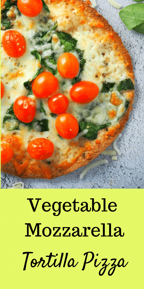Do you love crisp pizzas? Make these Vegetable Mozzarella Tortilla Pizza for the thinnest and crispest pizzas that you can make in no time. #pizzas #tortilla #vegetablepizza | Woman Scribbles