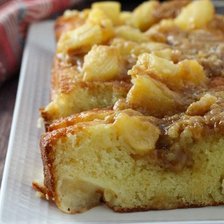 Sliced Pineapple Loaf cake