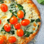 Vegetable Mozzarella Tortilla Pizza