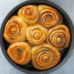Whole Wheat Cinnamon Rolls with Easy Caramel Glaze
