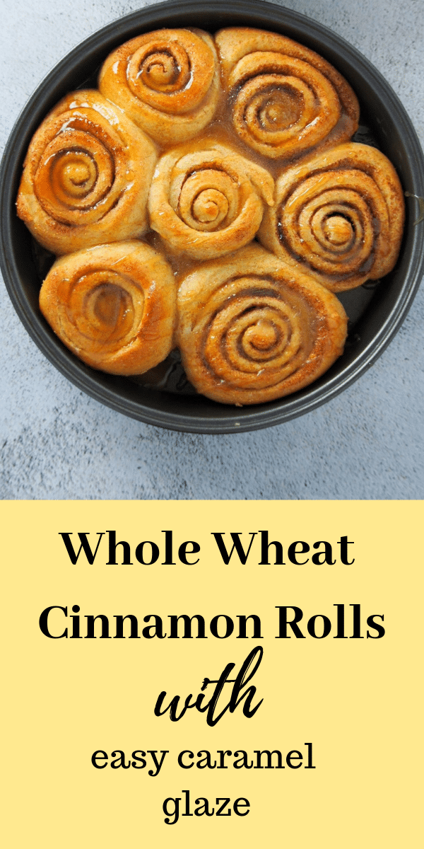 These Whole Wheat Cinnamon Rolls are just as delicious, tasty and soft like their regular counterparts. You will love them because they are so delicate, flavorful and light. #cinnamonbuns #breakfastbuns #cinnamonrolls