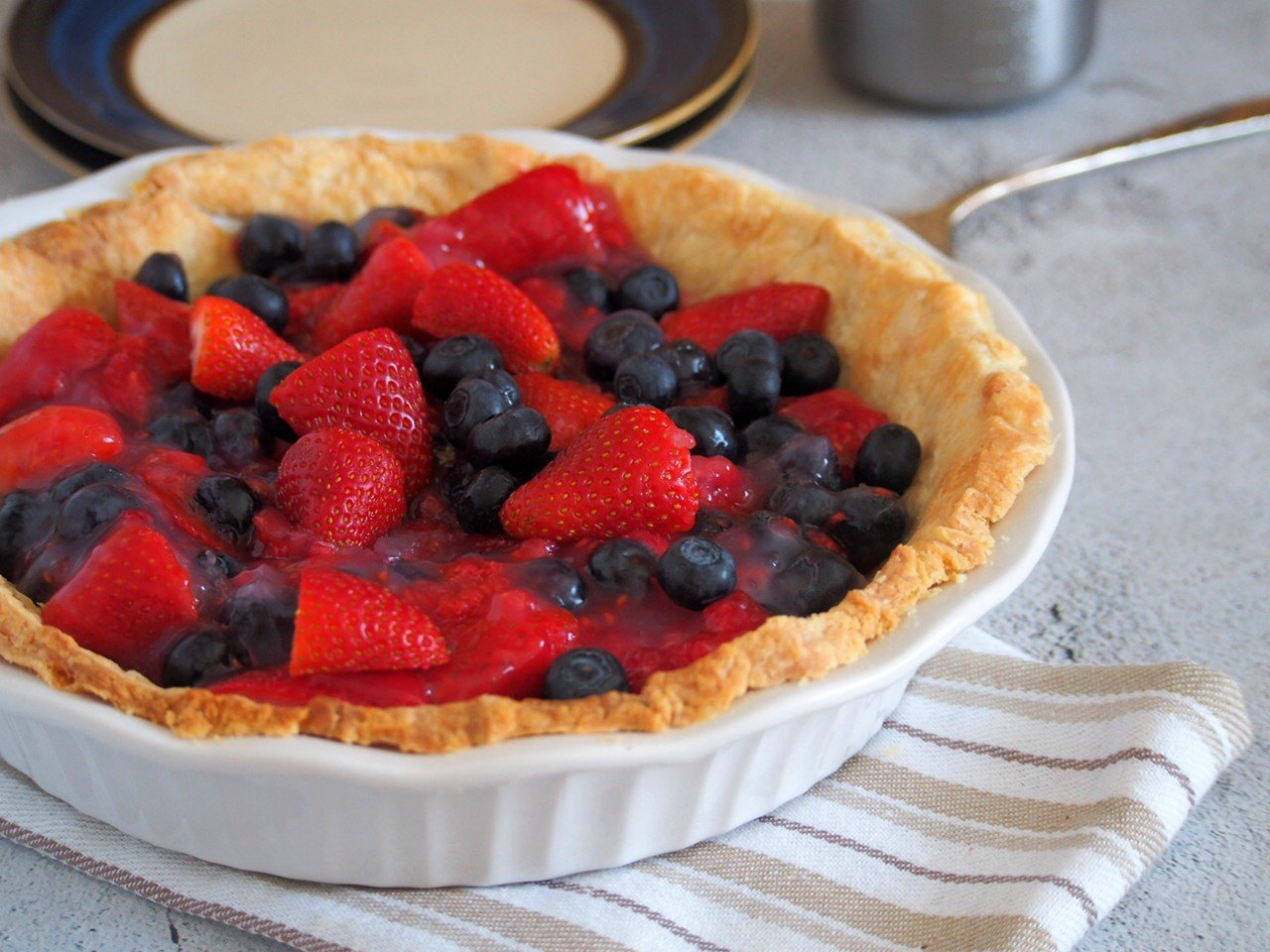 Whole Glazed Triple Berry Pie.