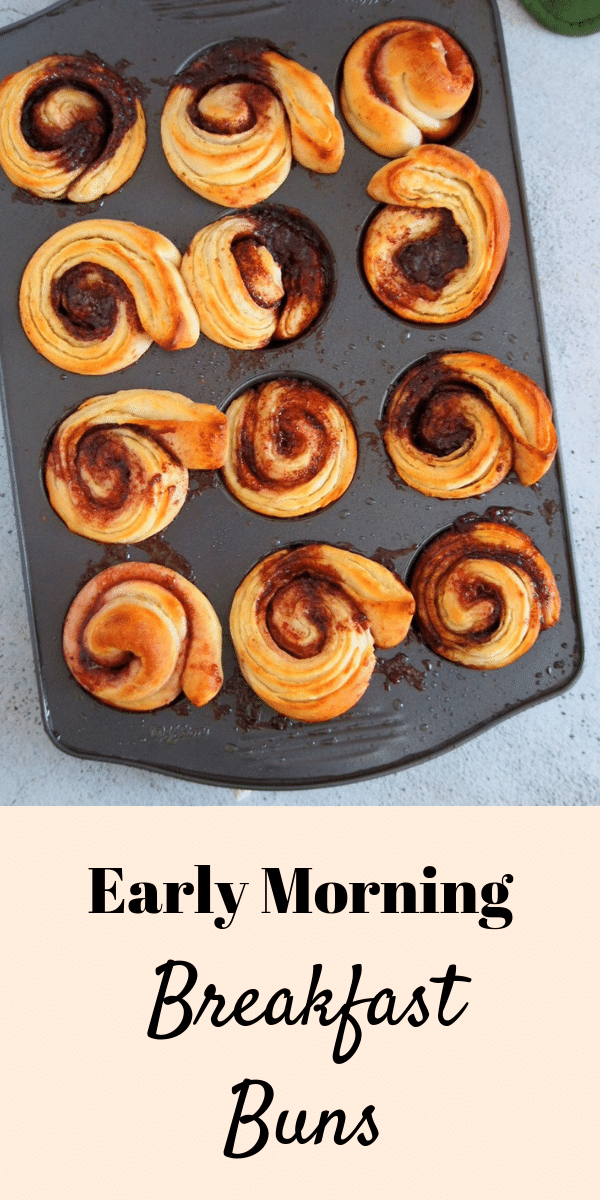 Enjoy delicious layers of bread filled citrus, jam and cinnamon sugar. These Early Morning Breakfast Buns can be prepared and the night before for easy baking the next morning. #morningbuns #cinnamonbuns #breakfastrolls | Woman Scribbles